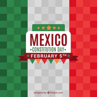 평면 디자인에 멕시코 국기 배경