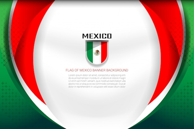 Mexico flag background