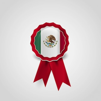 Mexico flag badge design vector