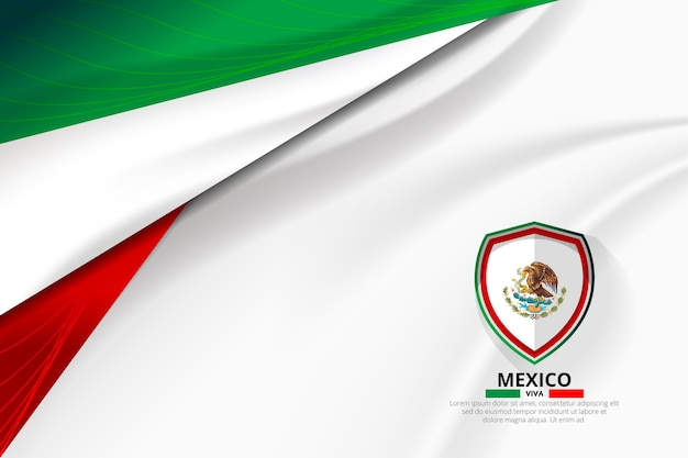Mexico flag concept background