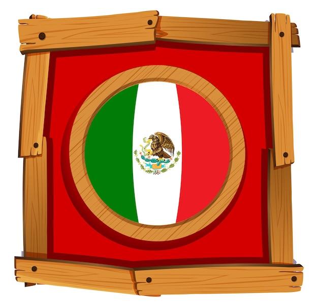 Флаг мексики на круглом значке