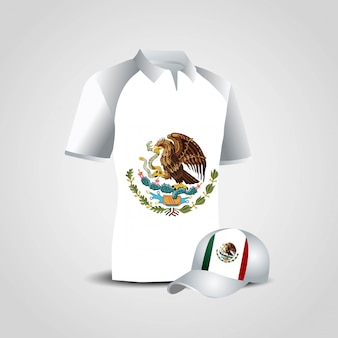 Mexico flag shirt design vector
