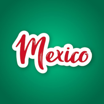メキシコの首都のメキシコ手描きレタリング名