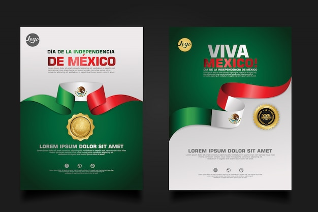 Mexico happy independence day   template.