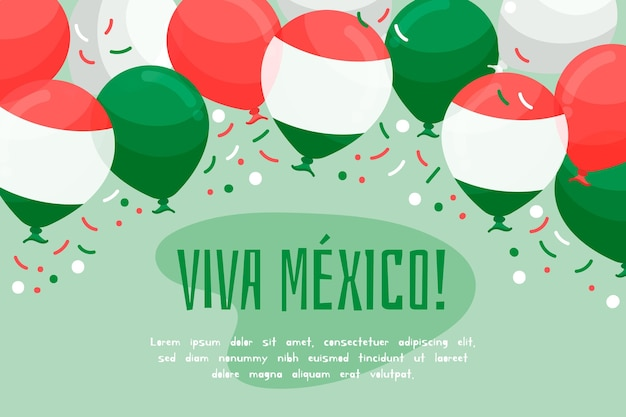 メキシコ独立記念日の背景デザイン