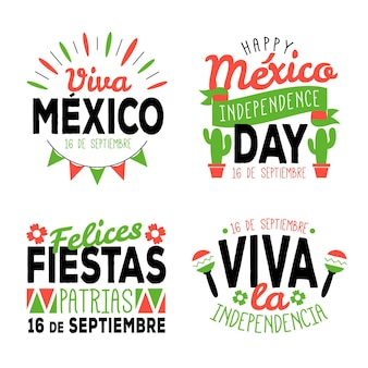 Mexico independence day badges