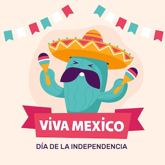 Баннер дня независимости мексики