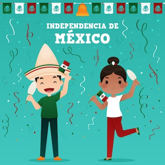 Mexico independence day illustration