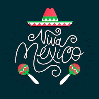 Mexico independence day lettering