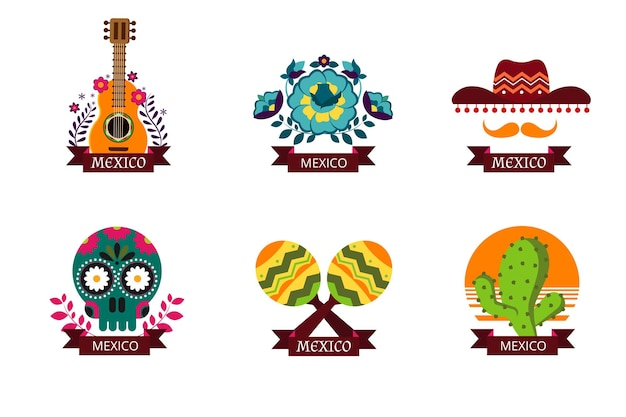 Mexico logo set.