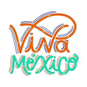 Mexico's independence lettering design