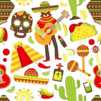 Мексика бесшовный фон