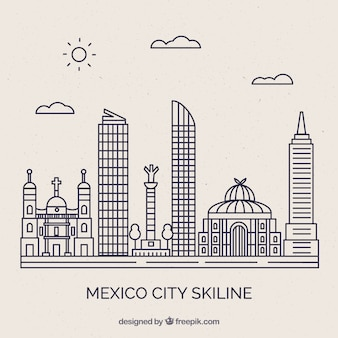 Mexico skyline background