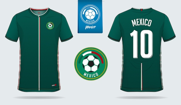 67ba3f034 Mexico soccer jersey or football kit template