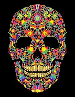 メキシコの伝統的な頭蓋骨