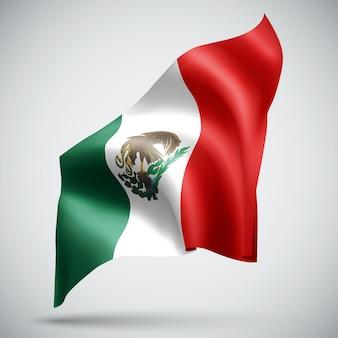 멕시코, 흰색 배경에 고립 된 벡터 3d 플래그