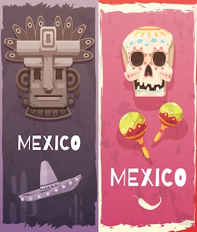 Mexico vertical banners