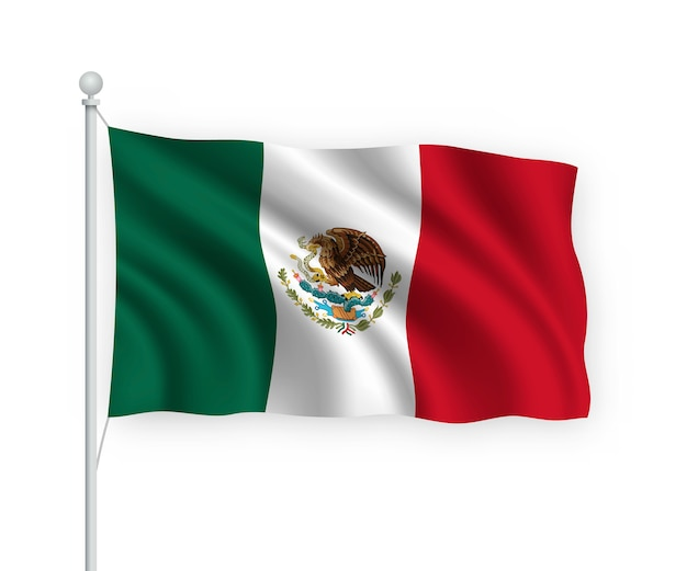 Mexico vote election banner background. ballot box with blurred flag