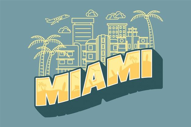 Miami city lettering