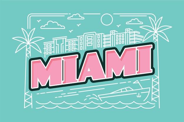 マイアミ市のレタリング