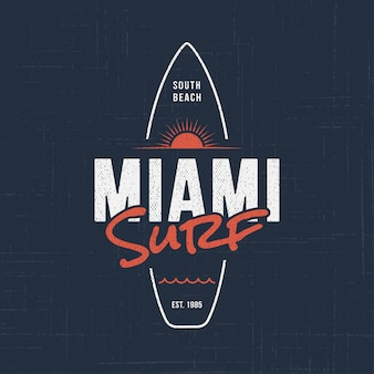 Miami florida surf.
