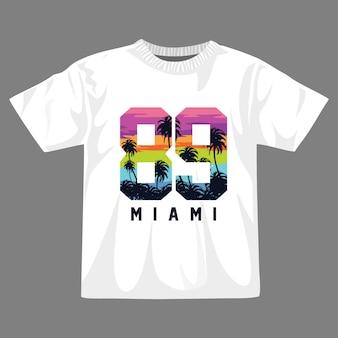 マイアミの夏のtシャツのデザイン