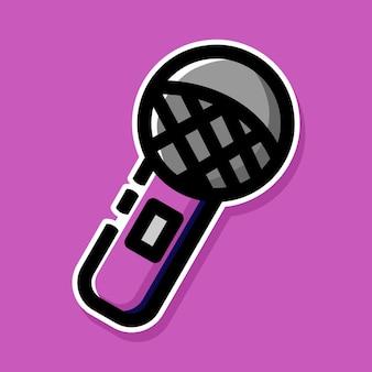 Микрофон мультяшный дизайн