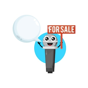 Mic for sale cute character mascot