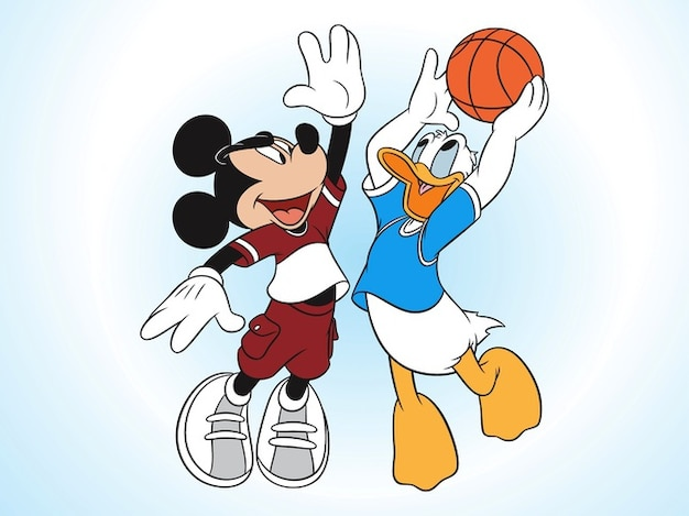 Mickey mouse and donald duck vector pack
