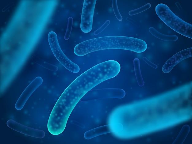 마이크로 박테리아 및 치료 박테리아 유기체.