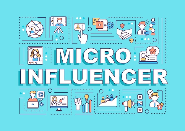 Micro influencers word concepts banner