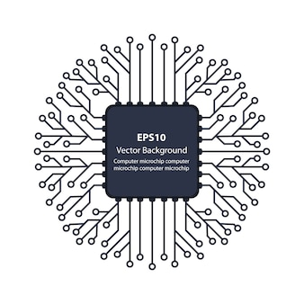 Microchip of electronics background