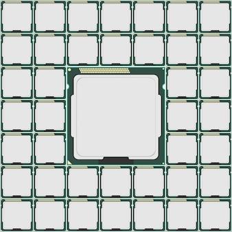 전자 공학의 마이크로 칩.