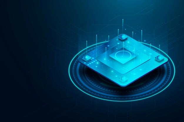 Микрочип процессор фон