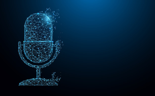 Microphone form lines and particle style design