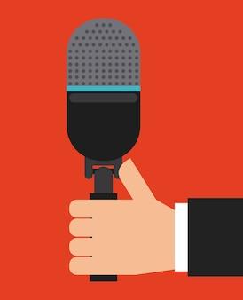 Microphone icon design, vector illustration eps10 graphic
