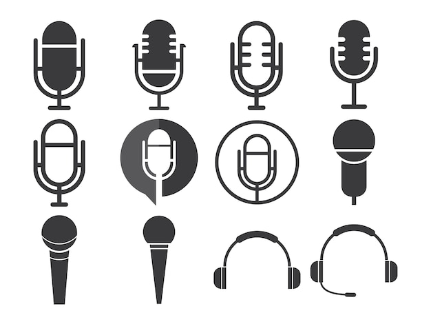 Microphone icon sets