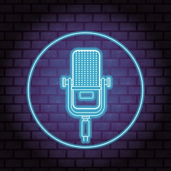 Microphone neon