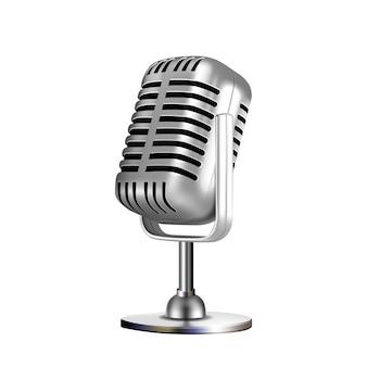 마이크 복고풍 보컬 라디오 장비