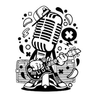 Microphone Rocker Cartoon