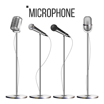 Microphone set with stand