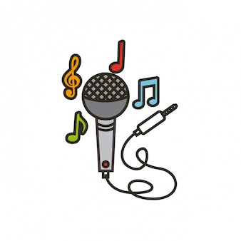 Microphone with cord icon