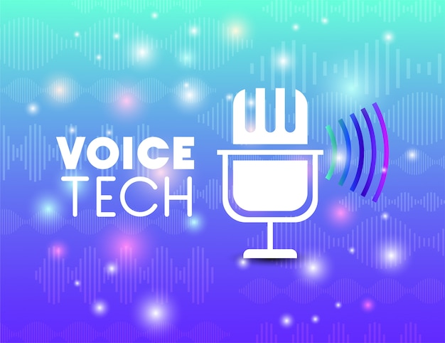 Microphone with voice recognition tech