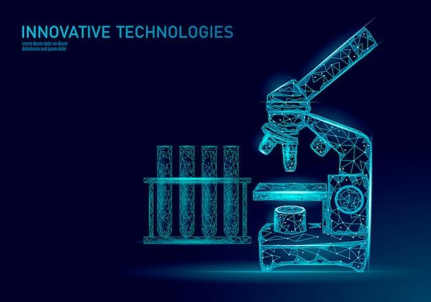 顕微鏡細菌低ポリレンダリングプロバイオティクス。実験室分析微生物。人体の健康な植物相。現代科学技術医学アレルギー免疫学説