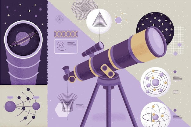 Микроскоп в комнате обратно в школу концепции