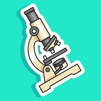 Дизайн стикера микроскопа