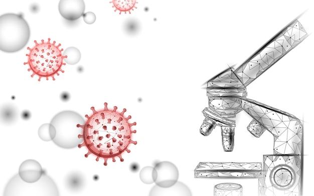 현미경 바이러스 3d 낮은 폴리 렌더링