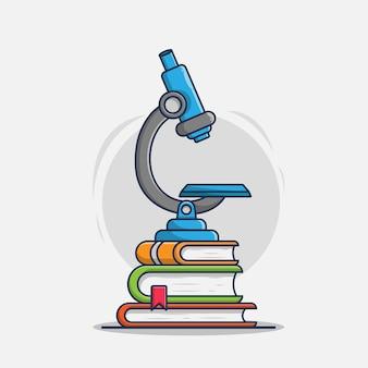 Микроскоп с книгами