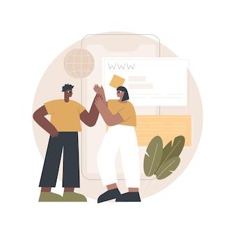 Illustrazione di micrositi