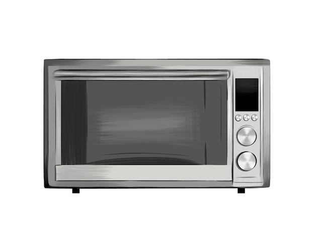 Microwave clip art cooking equipment electrical appliances kitchen technology concept